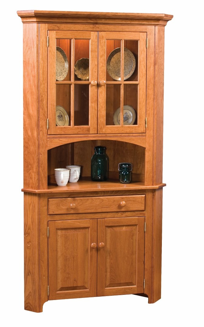 Shaker Corner China Cabinet Town amp Country Furniture