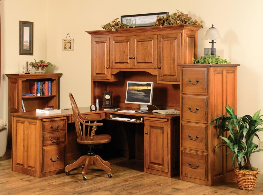 Corner Executive Desk With Hutch Town Amp Country Furniture