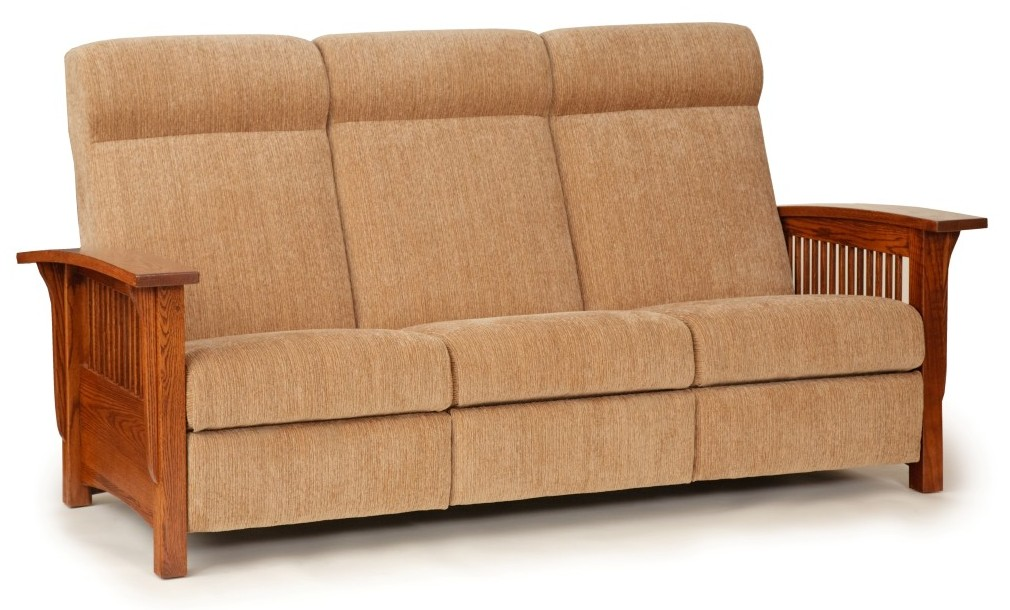 Town Country Furniture Mission Style Reclining Sofa