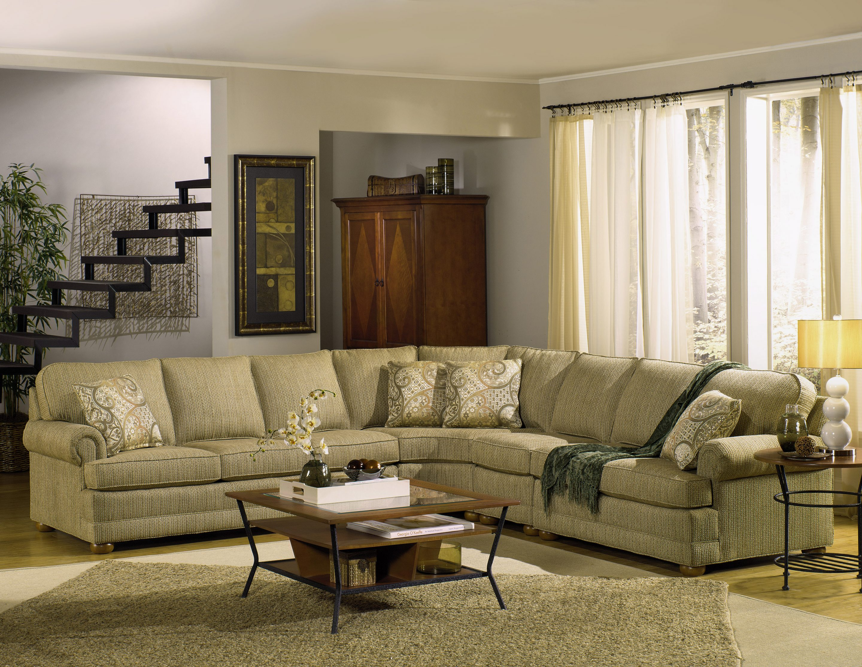 Affordable Custom Sectional With Back Country Furniture Designs