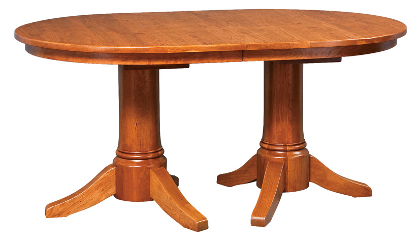 Oval Extension Double Pedestal Table Town Country Furniture