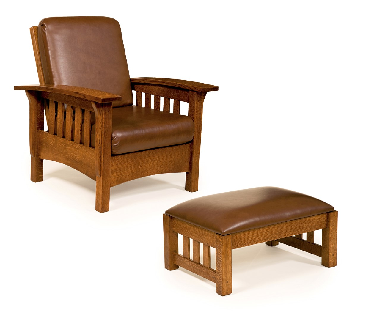 Mission style morris chair town country furniture for Mission style furniture