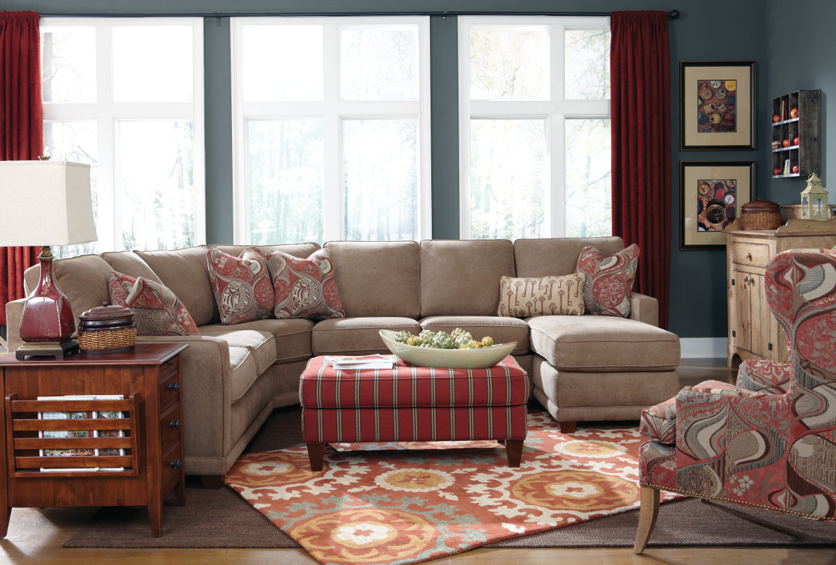 Country furniture sofa - Kennedy Sectional Sofa