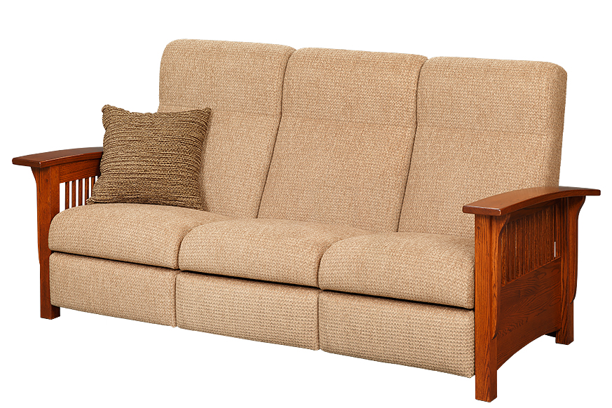 Mission Style Reclining Sofa
