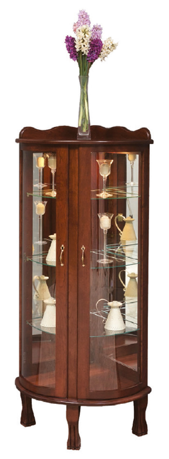 Curved Front Corner Curio Town Amp Country Furniture